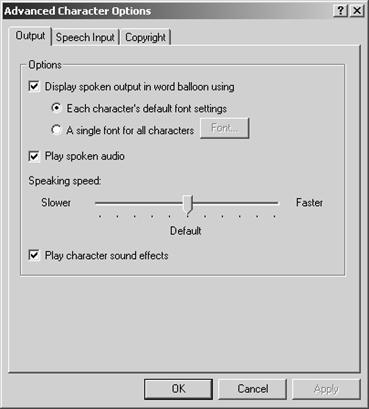Синтез и распознавание речи Современные решения 7 37 открывает доступ к диалоговому окну паарметров синтезатора речи